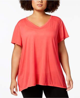 Calvin Klein Plus Size Draped-Back Top