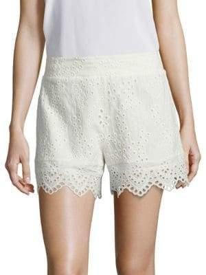 Nightcap Clothing Scalloped Cotton Eyelet Shorts