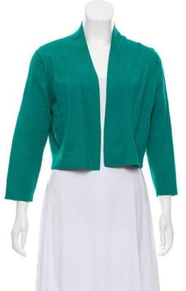 Calvin Klein Collection Cropped Open Front Cardigan Teal Cropped Open Front Cardigan