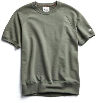 Todd Snyder + Champion Terry Short Sleeve Sweatshirt in Olive Grove
