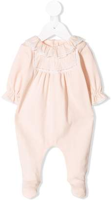 Chloé Kids embroidered detail romper