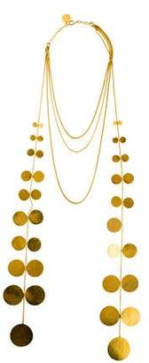 Herve Van Der Straeten Circle Disk Multistrand Necklace