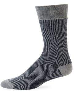 Saks Fifth Avenue Herringbone Dress Socks
