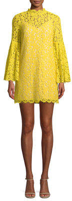 Endless Rose Mock-Neck Lace Illusion Shift Dress