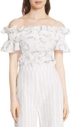Rebecca Taylor Francine Off the Shoulder Cotton Top