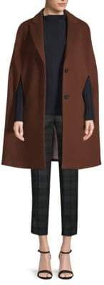 Peserico Wool-Cashmere Cape Coat