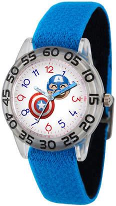 Marvel Emoji Boys Blue Strap Watch-Wma000077