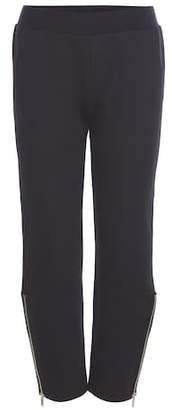 Stella McCartney Cropped cotton-blend trousers