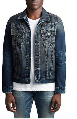 True Religion MENS SUPER T WESTERN JIMMY DENIM JACKET