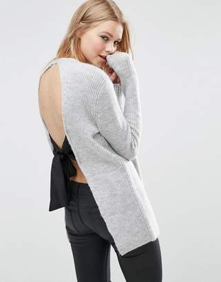 ASOS Sweater with Tie Back $46 thestylecure.com