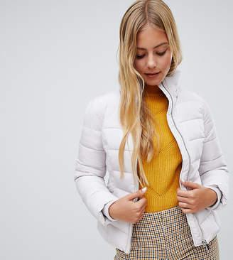 Miss Selfridge padded jacket in silver