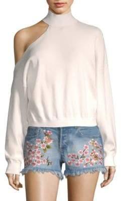 Alice + Olivia Finnigan One-Shoulder Sweater