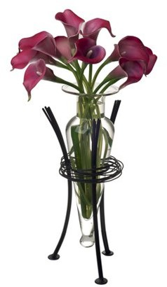 clear Danya B. Amber Amphora Vase with Wire Stand