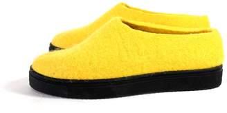 "Felt Forma Women's Organic Wool Moccasins ""Yellow"""
