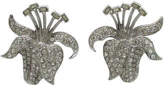 One Kings Lane Vintage Astra - Ora Stylized Floral Earrings - Thanks for the Memories