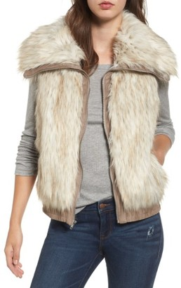 Women's Bb Dakota Collared Faux Fur Vest $116 thestylecure.com