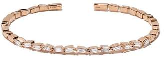 Suzanne Kalan 18kt rose gold and diamond Firework setting zigzag cuff