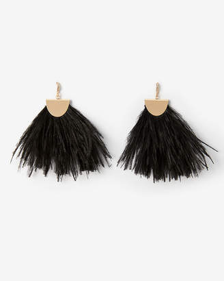 Express Colorful Feather Statement Earrings