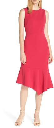 Vince Camuto Asymmetrical Hem Scuba Crepe Dress