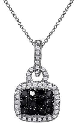 Black Diamond FINE JEWELRY LIMITED QUANTITIES 1/5 CT. T.W. White & Color-Enhanced Pendant Necklace