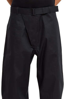 MACKINTOSH 0001 Wide-Leg Bonded Cotton Trousers
