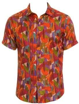 Robert Graham Gallagher Silk-Blend Sportshirt