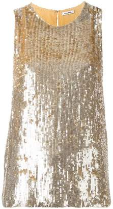 P.A.R.O.S.H. sequined sleeveless blouse