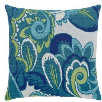 Floral Wave Indoor/Outdoor Accent Pillow