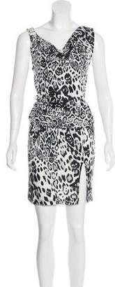 Philipp Plein Studded Leopard Print Dress