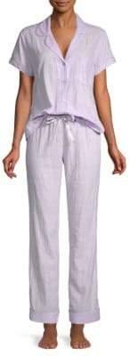UGG Two-Piece Short-Sleeve Plaid Pajama Set