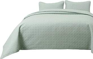 Cozy Beddings Allyson 2pc Quilted Bedspread Thin Extra Light Weight and Oversized Coverlet Twin/Twin XL Size Bed