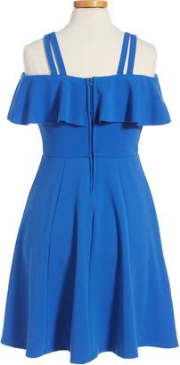 Love, Nickie Lew Off the Shoulder Ruffle Dress