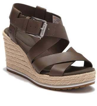 Timberland Nice Coast Leather Braided Jute Wedge Sandal