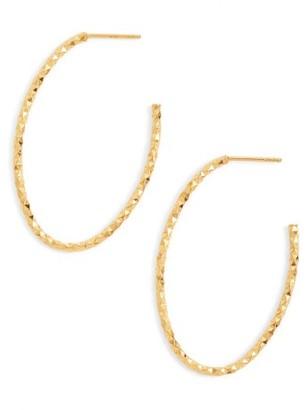 Women's Argento Vivo Open Hoops $68 thestylecure.com