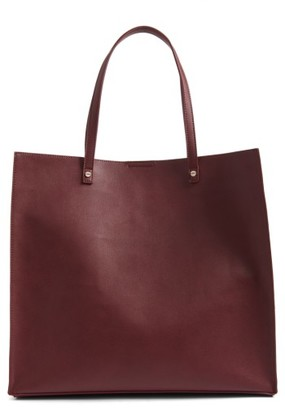 Bp. Faux Leather Tote - Burgundy $55 thestylecure.com