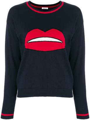 P.A.R.O.S.H. lips embroidered sweater