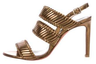 Santoni Leather Slingback Sandals