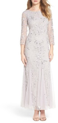 Petite Women's Pisarro Nights Embellished Mesh Gown $198 thestylecure.com