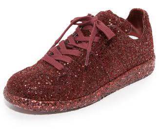 Maison Margiela Glitter Sneakers $725 thestylecure.com
