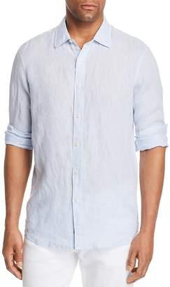 Michael Kors Cross Dye Linen Long Sleeve Button-Down Shirt - 100% Exclusive