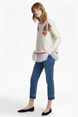 French Connenction Vienna Knit Embroidered Jumper