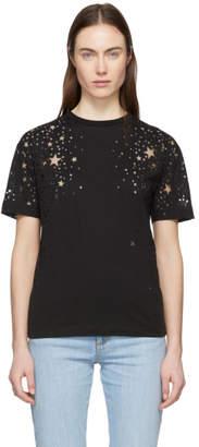 Stella McCartney Black Cut-Out Stars T-Shirt