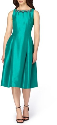 Women's Tahari Shantung Midi Dress $148 thestylecure.com