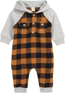Tucker + Tate Hooded Flannel Romper