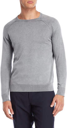 Forte Cashmere Garment Dyed Crew Neck Sweater