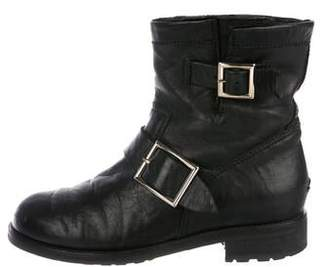 Jimmy Choo Fur-Lined Leather Boots