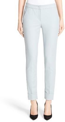 Women's Armani Collezion Tech Cotton Cuff Pants $495 thestylecure.com