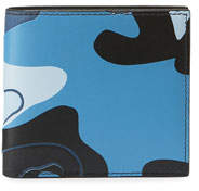 Valentino Men's Camo-Print Leather Bifold Wallet