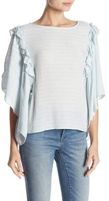 1 STATE 1.State Ruffled Flare Sleeve Top