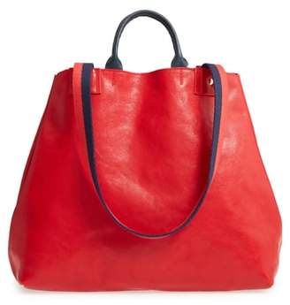 Clare Vivier Le Big Sac Rustic Leather Tote